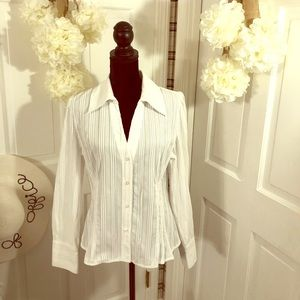 INC International Concepts  White Blouse